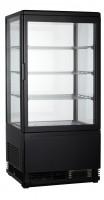 GGG - Aufsatzgetränkekühler 68 Liter, 428x386x885 mm, schwarz, 4 Seiten verglast, 180 W, 230 V, 50 Hz, R600a, 0°C - 12°C,