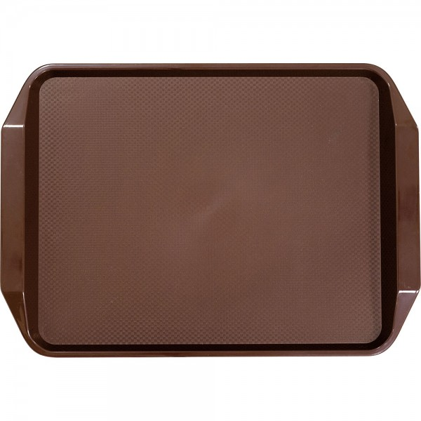 Tablett mit Griffen aus Polypropylen braun 43 x 30,5 x 3 cm (BxTxH)