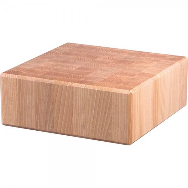 Hackblock aus Holz