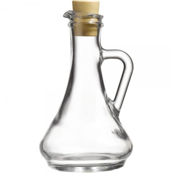 Essig - / Ölflasche aus Glas mit Pfropfen