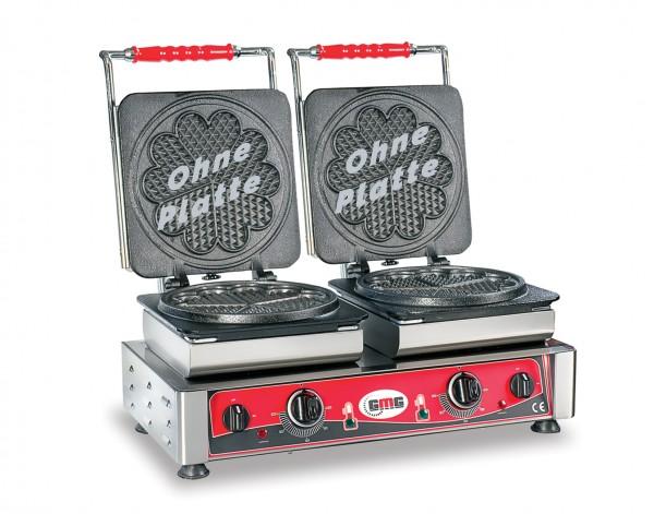 Doppel-Waffeleisen, elektro, Grundgerät ohne Platten