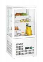 GGG - Aufsatzgetränkekühler 58 Liter, weiß, 428x386x846 mm, 160 W, +3°C/+8°C, 230 V, 50 Hz, 2 verstellbare Einlegeböden