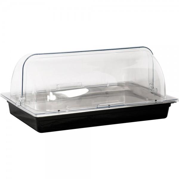 Sunnex Kühlschale GN 1/1 aus Polycarbonat schwarz passend für GN 1/1 (65 mm)