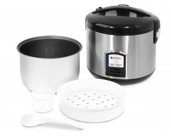 Reiskocher mit Dampfgarfunktion