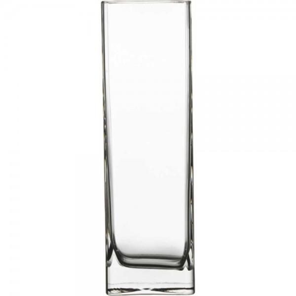Vase aus Glas eckig Höhe 180 mm