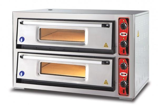 Pizzaofen ohne Thermometer, 2 Kammern, 9+9 Pizzen Ø 30 cm