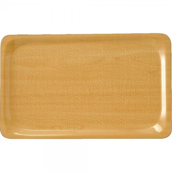 Tablett aus laminiertem Schichtstoff GN 1/1 mit rutschhemmender Oberfläche Farbe Birke