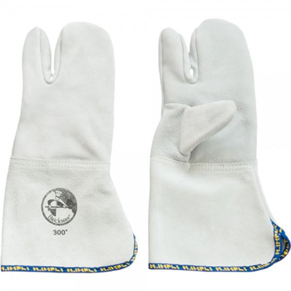 Backhandschuhe drei Finger hitzebeständig bis 300 °C