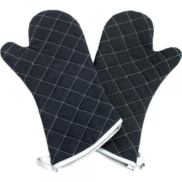 Küchenhandschuhe zwei Finger hitzebeständig bis 230 °C Länge 43 cm