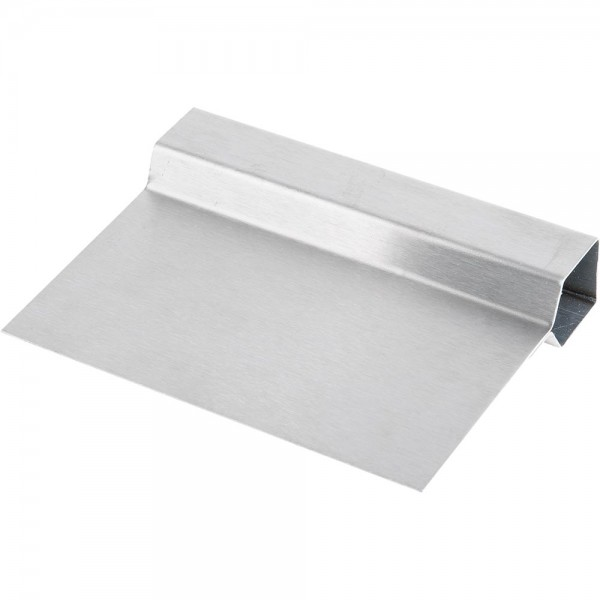 Teigschaber / Abstecher Edelstahl aus einem Stück 15 x 11 cm (BxT)