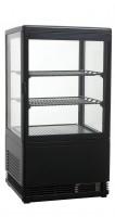 GGG - Aufsatzgetränkekühler 58 Liter, 428x386x810 mm, schwarz, 4 Seiten verglast, 180 W, 230 V, 50 Hz, R600a, 0°C - 12°C,