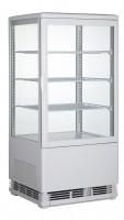 GGG - Aufsatzgetränkekühler 68 Liter, 428x386x885 mm, weiß, 4 Seiten verglast, 180 W, 230 V, 50 Hz, R600a, 0°C - 12°C,