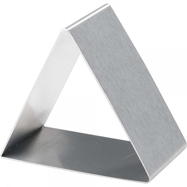 Ausstechform dreieckig Breite 8 cm Höhe 4,5 cm