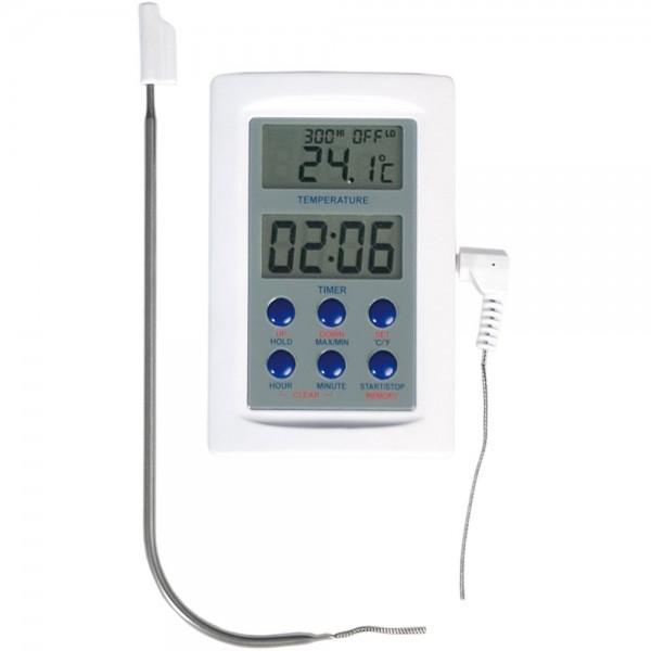 Digital-Thermometer mit separatem Tauch - / Einstechfühler Temperaturbereich -50 °C bis 300 °C