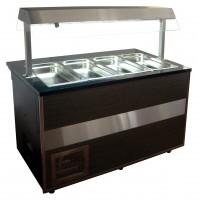 GGG - GastroLine Bemar Open, Warmvitrine, 1000x800x1250 mm für 2x 1/1 GN, 1x 2/4 GN (max. H 150 mm), +30 °C/ +90 °C,