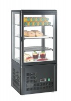 GGG - Aufsatzgetränkekühler 68 Liter, schwarz, 428x386x924 mm, 164 W, +3°C /+8°C, 230 V, 50 Hz, 3 verstellbare Einlegeböden