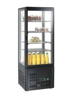 GGG - Aufsatzgetränkekühler 98 Liter, schwarz, 428x386x1150mm, 200 W, +3°C /+8°C, 230 V, 50 Hz, 4 verstellbare Einlegeböden