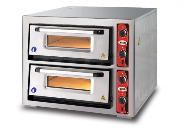 Pizzaofen mit Thermometer, 2 Kammern, 6+6 Pizzen Ø 30 cm