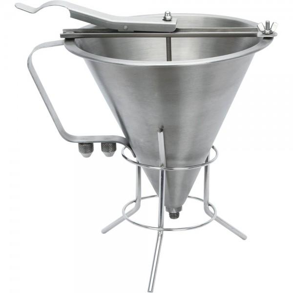 Fondant - / Likörtrichter mit Gestell 3 Liter 180 x 410 x 395 mm (BxTxH)