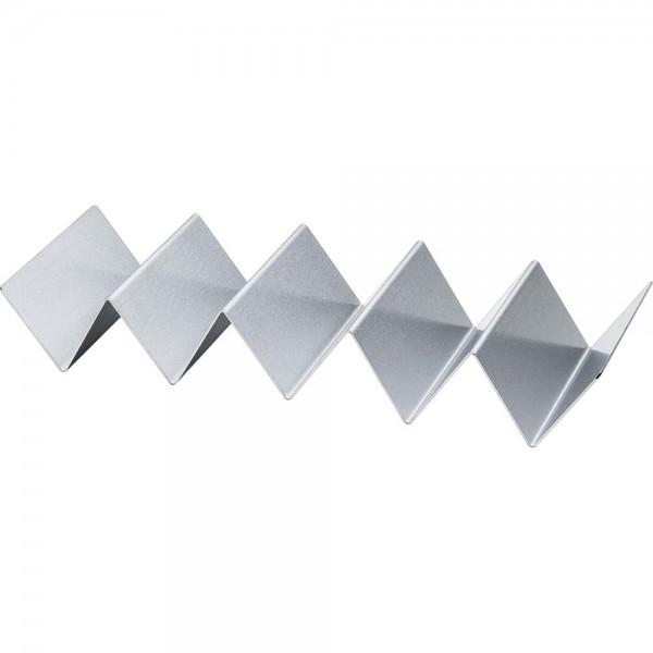 Snackwelle aus Edelstahl Kunststoffgriff schwarz Klingenbreite 12 cm Länge 24 cm