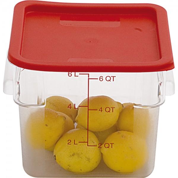 Deckel rot für Lebensmittelbehälter LT0201057