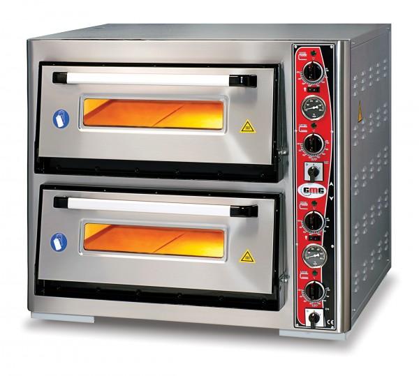 Pizzaofen mit Thermometer, 2 Kammern, 6+6 Pizzen Ø 33 cm