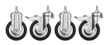 Rollensatz für Untergestell, 4 Räder, Lochbohrungen bauseitig