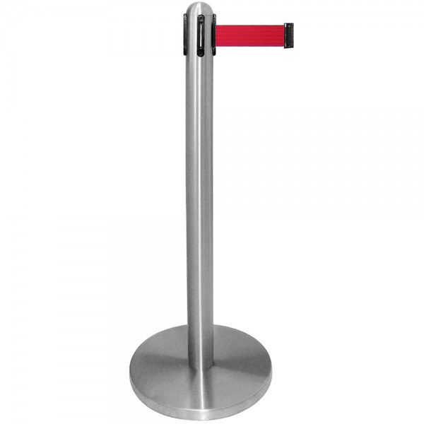 Abgrenzungsständer Zugband rot Bodendurchmesser 34,5 cm Höhe 96,5 cm