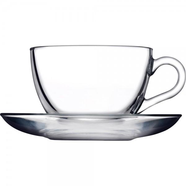 Cappuccinoglas 0,238 Liter mit Untertasse