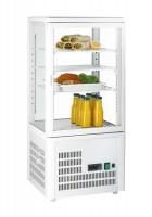 GGG - Aufsatzgetränkekühler 68 Liter, weiß, 428x386x924 mm, 164 W, +3°C /+8°C, 230 V, 50 Hz, 3 verstellbare Einlegeböden