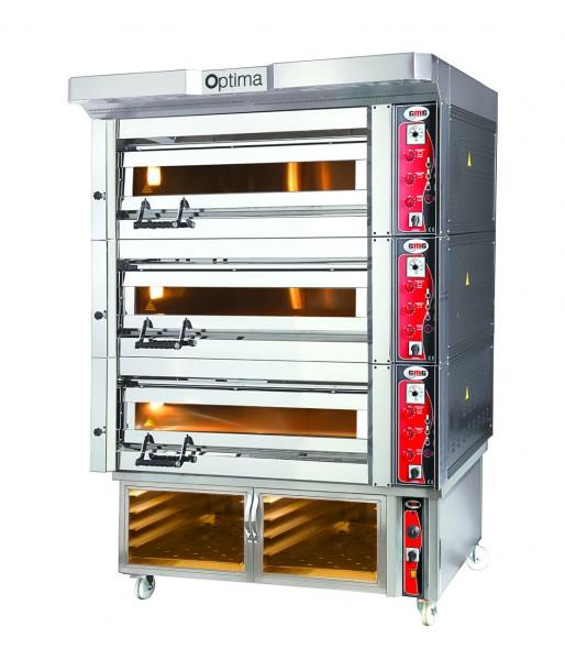 Bäckerei- & Konditoreiofen, 3 Backkammern, inkl. Haube & Gärschrank